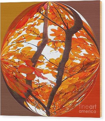 Orange Art Deco Wood Print by Scott Cameron