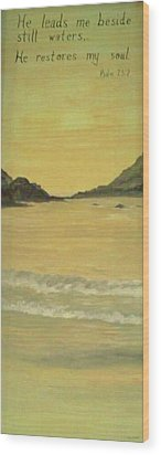 Orange Beach Wood Print by Christy Saunders Church