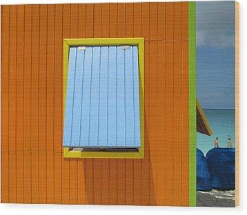 Orange Cabin Wood Print by Randall Weidner