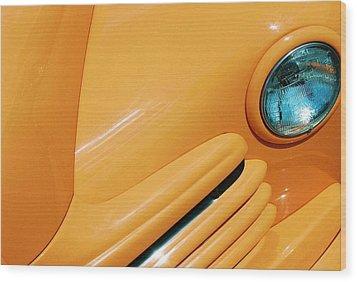 Orange Car Wood Print by Daniel Thompson