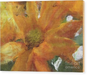 Orange Chrysanthemem Photoart Wood Print