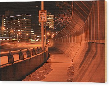 Orange City 2 Wood Print by Derek Woodley