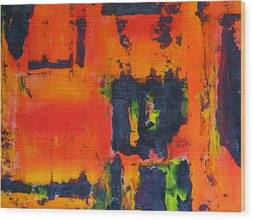 Wood Print featuring the painting Orange Day by Everette McMahan jr