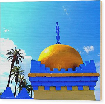 Orange Dome Wood Print
