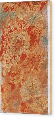 Orange Fantasia Wood Print by Anne-Elizabeth Whiteway