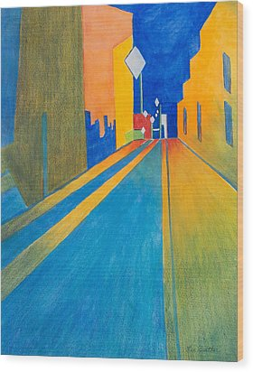 Orange France At Night Wood Print by Lee Beuther