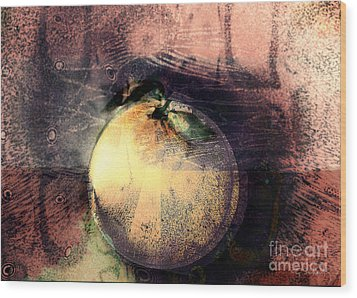 Wood Print featuring the digital art Orange by Gabrielle Schertz