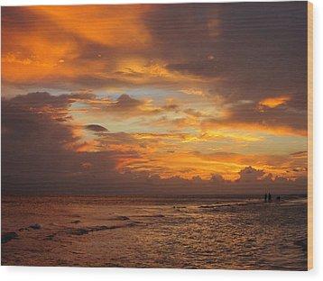 Orange Glow Wood Print by Rosie Brown