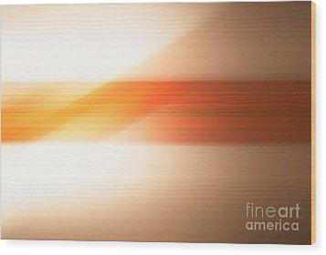 orange I Wood Print by Hannes Cmarits