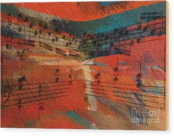 Wood Print featuring the digital art Orange Intermezzo by Lon Chaffin