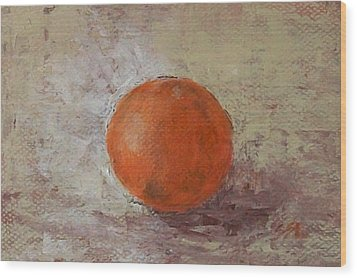 Wood Print featuring the painting Orange by Jane  See