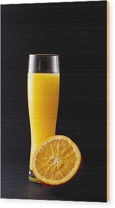 Orange Juice Wood Print by Gergana Chakalova
