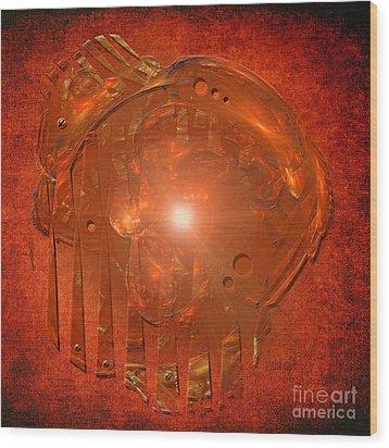 Wood Print featuring the digital art Orange Light by Alexa Szlavics