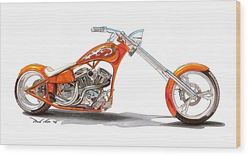 Orange N Tangy Wood Print by Paul Kim