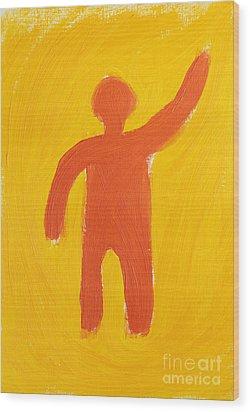 Orange Person Wood Print by Igor Kislev