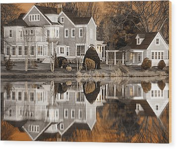 Orange Reflection Wood Print by Vicki Jauron