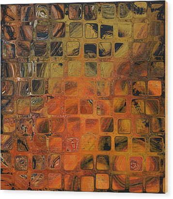 Orange Sea  Wood Print by Andrada Anghel