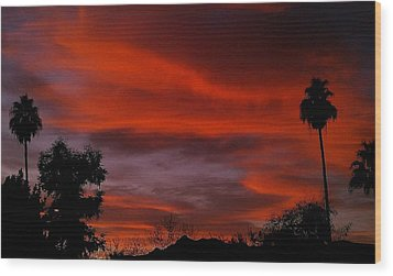 Orange Sky Wood Print by Chris Tarpening