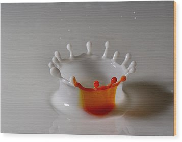 Orange Slice Wood Print by Mike Farslow