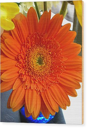 'orange Sun' Wood Print
