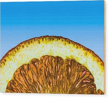 Orange Sunrise Wood Print by Alexander Senin