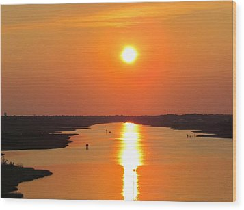 Wood Print featuring the photograph Orange Sunset by Cynthia Guinn