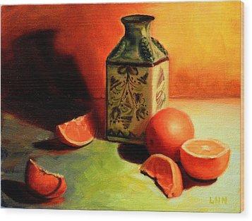 Orange Temptation Wood Print