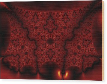 Orange Veil Wood Print by Mark Eggleston