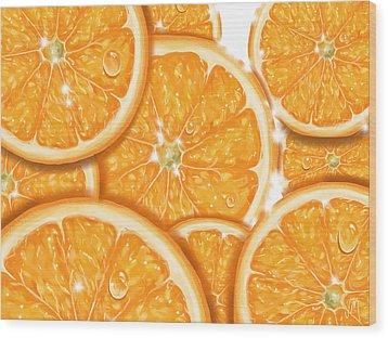 Orange Wood Print by Veronica Minozzi