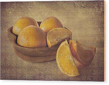 Oranges Wood Print by Lyn Darlington