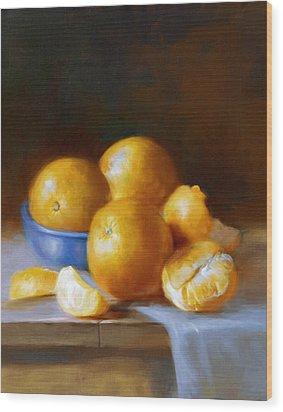 Oranges Wood Print by Robert Papp