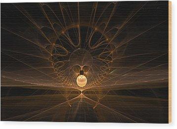 Wood Print featuring the digital art Orb by GJ Blackman