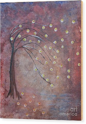 Wood Print featuring the painting Orb Oak by Denise Tomasura