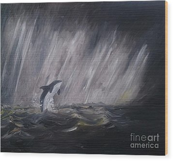 Orca Wood Print by Isabella F Abbie Shores FRSA