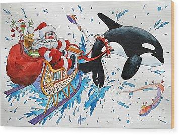 Orca Santa Wood Print by James Williamson
