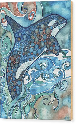 Orca Wood Print by Tamara Phillips
