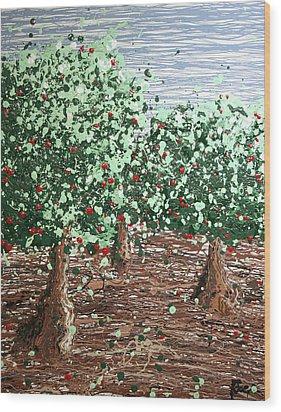 Orchard 4 Wood Print by Ric Bascobert