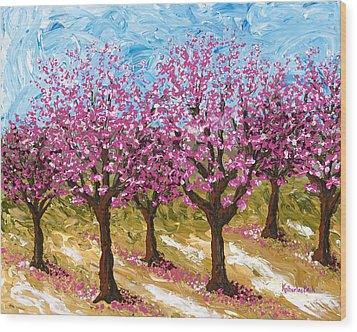 Orchard Wood Print by Katherine Young-Beck