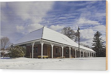 Orchard Park Depot Wood Print by Peter Chilelli