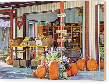 Orchard Valley Market Wood Print by Bob Hislop