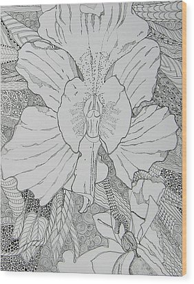 Orchid In Disguise Wood Print by Terry Holliday