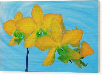 Orchid In Yellow Wood Print by Ben and Raisa Gertsberg