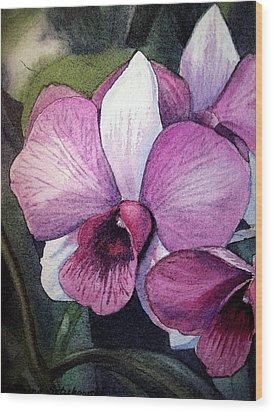 Orchid Wood Print by Irina Sztukowski