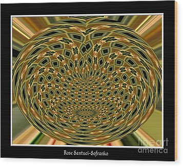 Wood Print featuring the photograph Orchid Polar Coordinate by Rose Santuci-Sofranko