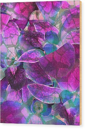 Orchid Splash Wood Print by Diane Alexander