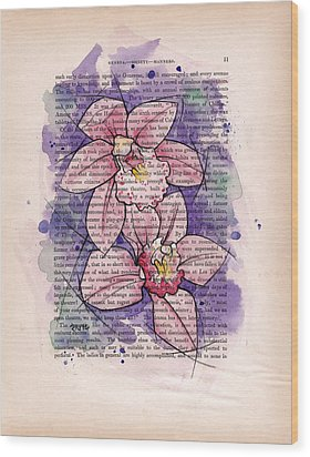 Orchid Study I Wood Print by Rudy Nagel