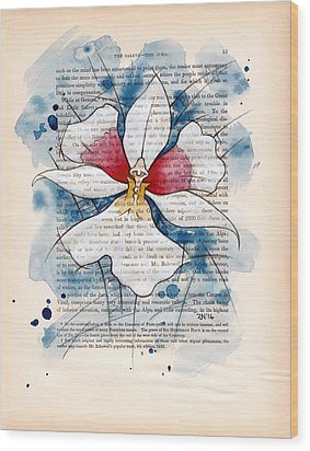 Orchid Study II Wood Print by Rudy Nagel