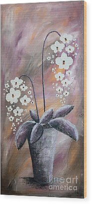 Orchids Wood Print by Home Art