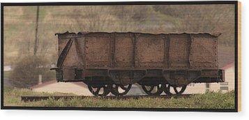 Ore Car Wood Print