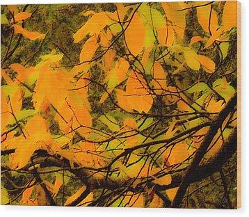 Ore Leaves Wood Print by Kristen R Kennedy
